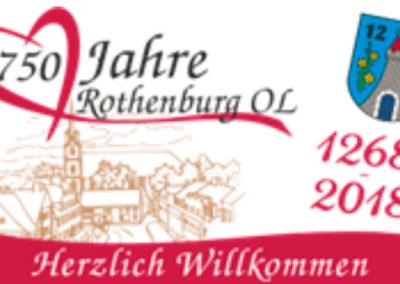 2018 – 750 Jahre Rothenburg